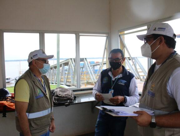 Fiscais da Arsepam realizam visitas técnicas a rodoviária e portos de Itacoatiara e Urucurituba